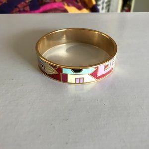 Gold & printed bracelet